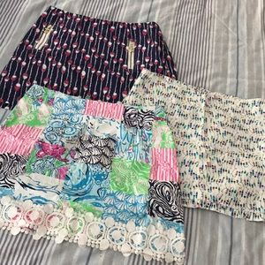 Lot of 3! 2 Lilly Pulitzer Skirts and 1 Skort